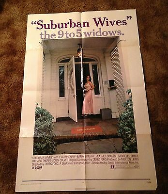 SUBURBAN WIVES THE 9 to 5 WIDOWS Original 1972 One Sheet Movie POSTER