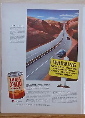 Vintage 1941 magazine ad for Shell, Altamonte Pass California, Roads of Tomorrow