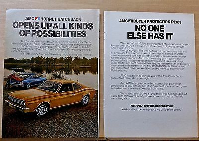 1974 two page magazine ad for AMC - Hornet Hatchback, opens up possibilities