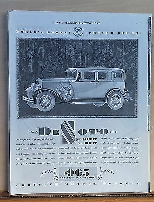 1930 magazine ad for DeSoto - Straight Eight, Sterling Quality