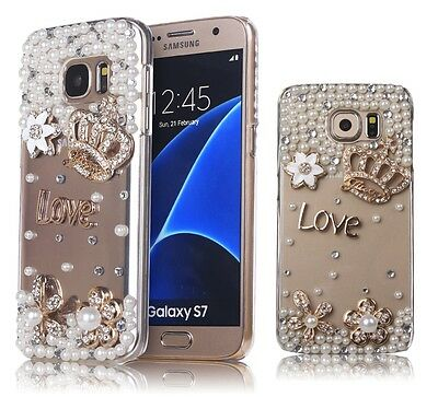 New Bling Glitter Case Crystal Clear Slim Diamond Crown Cover for Girls Women