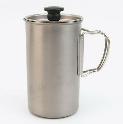 "SNOW PEAK ""Titanium French Press"" CS-111, Kaffeepresse, Made in Japan, NEU! NEW!"