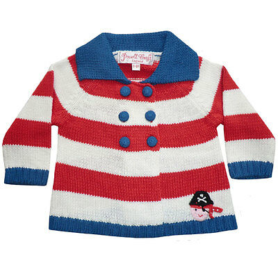 Powell Craft Hand Knitted Pirate Pram Coat Baby's Cardigan Age 18 - 24 Months