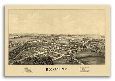 Quitman Georgia 1885 Historic Panoramic Town Map 20x30
