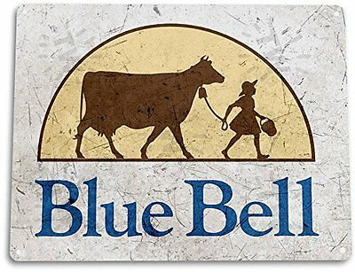 BlueBell Ice Cream Vintage Retro Tin Metal Sign