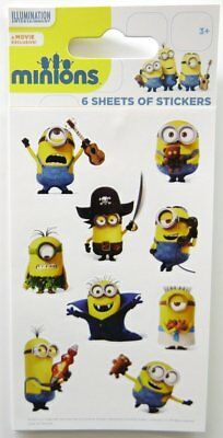 Pack 6 sheets of Minions Stickers for Party Bags - Despicable Me