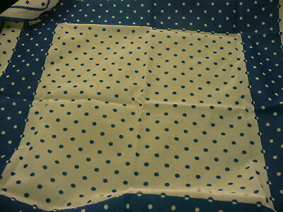"""Polka dot chiffon style Scarf kerchief 27"""" square made in Japan  S108"""