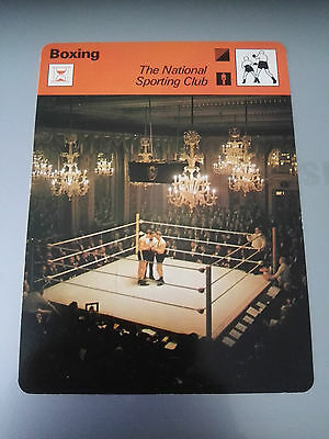 BOXING - NATIONAL SPORTING CLUB - Sportscaster Photo Card