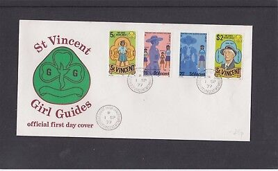 St Vincent 1977 Girl Guides Olaf Lady Baden Powell First Day Cover FDC Kingston
