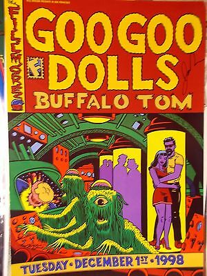 GOO GOO DOLLS FILLMORE POSTER SIGNED By JOHN  ORIG BILL GRAHAM F352 Chuck Sperry
