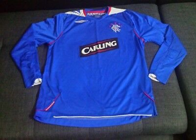 Glasgow Rangers 2008-09 Home football  shirt for mens size L  Umbro Carling