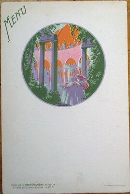 Art Deco, Color Litho French 1930s Advertising Menu - Women in Garden