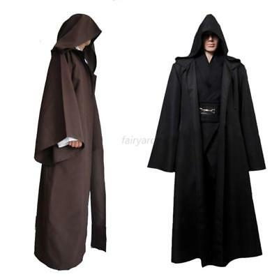 Knight Hooded Cloak Jedi Sith Cosplay Robe Cape Party Costume Clothes Dress Prop