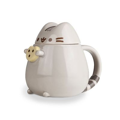 Official The Cat Pusheen 3D Mug With Lid Cookie Gifts New