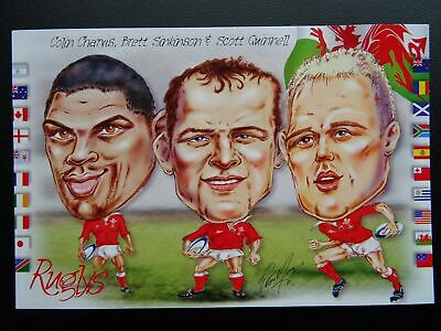 Wales Welsh Rugby COLIN CHARVIS, BRETT SINKINSON & SCOTT QUINNELL c1999 Postcard