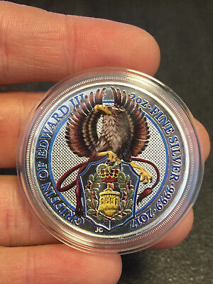 2 oz 999 Silber Silbermünze The Griffin Greif Queens Beasts 2017 - Farbe -