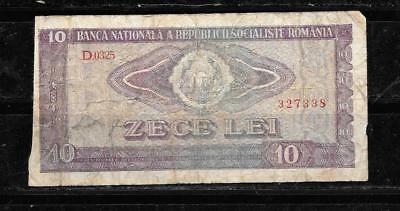 ROMANIA #94a 1966 VG CIRC OLD 10 LEI BANKNOTE BILL NOTE CURRENCY PAPER MONEY
