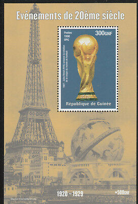 Guinea 6110 - 1998 EVENTS OF 20th CENTURY FOOTBALL WORLD CUP  perf m/sheet u/m