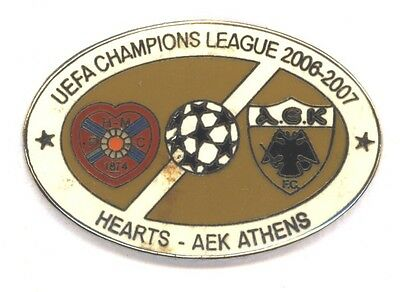 Heart of Midlothian v AEK Athens Champions League 2006 - Pin Badge