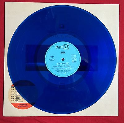 DEPECHE MODE -Music For The Masses- Rare German Blue vinyl LP (Vinyl Record)