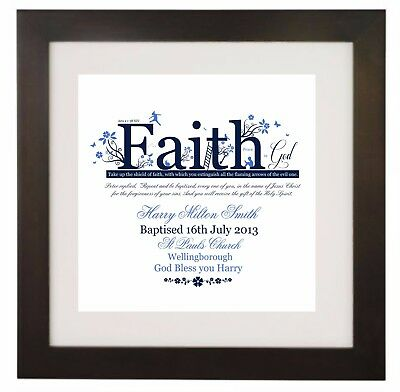 Personalised Baptism, Bible Verse, Bible Quote, Christian Gift, Wall Art Print