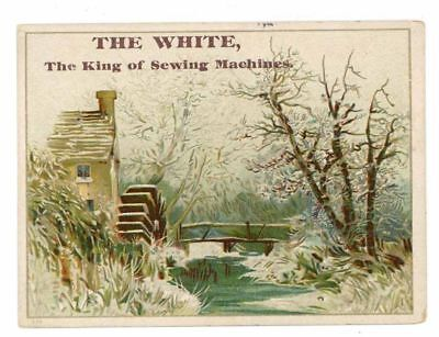 THE WHITE, Victorian Trade Card, 264, Sewing Machines