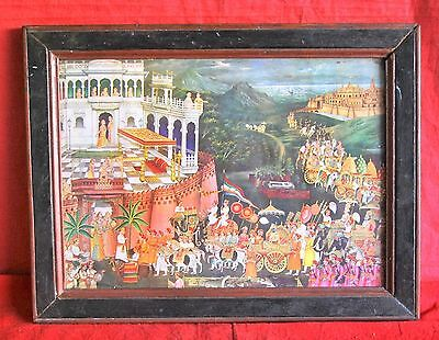 Vintage Rare Old Hinduism Collectible Handcrafted Beautiful Original Print
