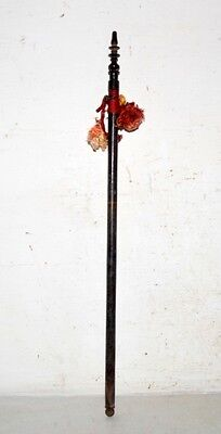 1890's Antique Old Indian Rose Wood Hand Carved Beautiful Hand Fan Stick Kn16
