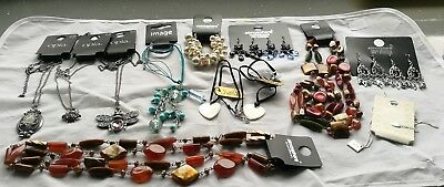 Job Lot New Jewellery 14 Items, Necklaces & Earrings, Bnwt Resale, Gifts, Xmas