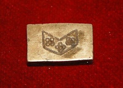 Antique Old Rare Bronze Hand Engraved Floral Jewelry Die Mold