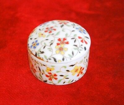 Antique Old Rare Collectible Ceramic Porcelain Beautiful Small Box