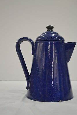 """used"" Blue Ceramic Coffee Pot- Pick Up Only"