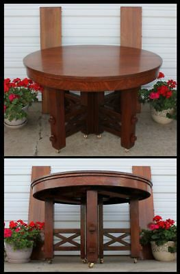 "Before STICKLEY 1899 Choate Hollister Pegged Mission Oak Arts & Crafts 48"" Table"