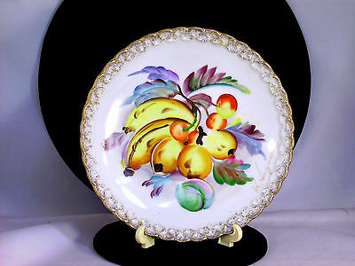 "Decorative Collector Plate Artist Signed 6"" Fruit Hand Painted Ucagco Japan Vtg"