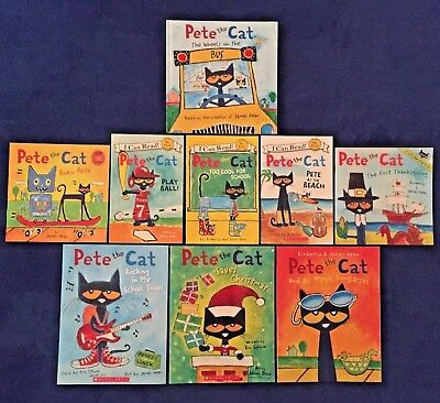 Lot of 9 Children's Picture Books by James Dean: Pete the Cat Series