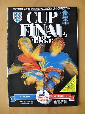 1985 FA Cup Final EVERTON v MANCHESTER UNITED *Exc Condition Football Programme*