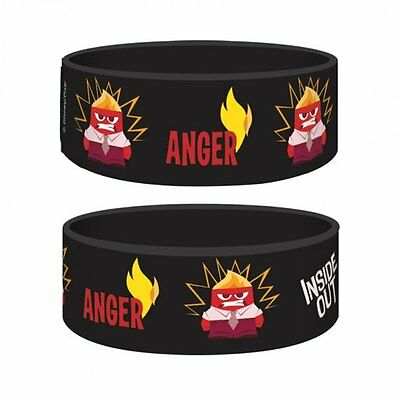 INSIDE OUT anger/black 2015 rubber JUNIOR WRISTBAND official merchandise DISNEY
