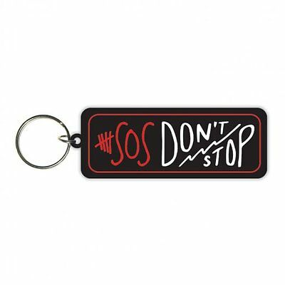 5 SECONDS OF SUMMER dont stop 2014 - oblong RUBBER KEYCHAIN official merchandise