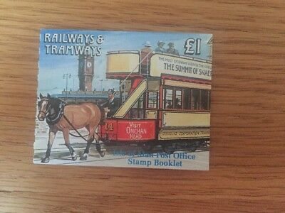 ISLE OF MAN 1992 Railways & Tramways: £1 Booklet SB29