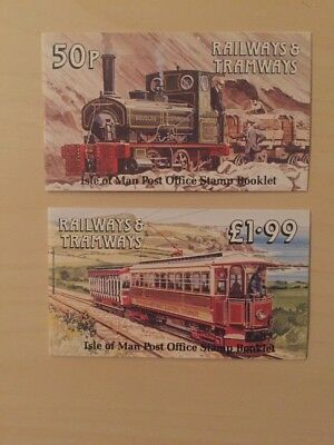 1988 ISLE OF MAN STAMP BOOKLET SB18/SB19 'RAILWAYS AND TRAMWAYS' 50p & £1.99