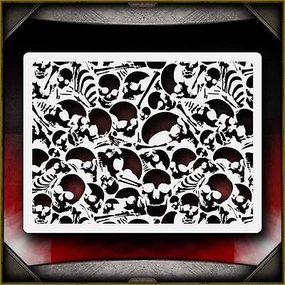 Skull Background 6 Airbrush Stencil Template Airsick