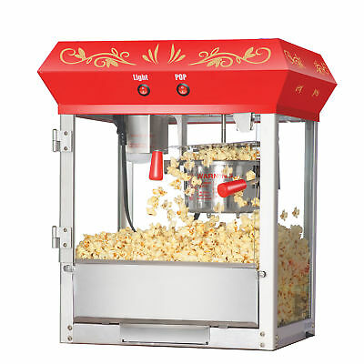 Great Northern Popcorn Classic Red Foundation Popcorn Popper Machine 6 Ounce Oz