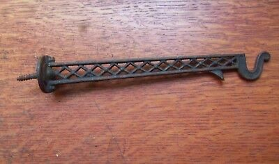Antique Fancy Ornate Iron Plant or Bird Cage Hanger c1885