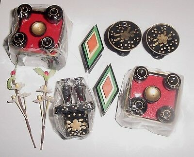 Japanese Tables & Diamond Rice Cakes Flowers / Ornaments for HINA Doll