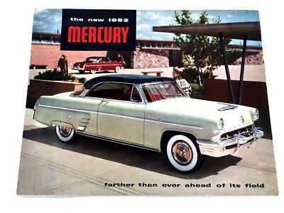 1953 Mercury BIG SIZE Original Car Sales Brochure - Monterey Convertible