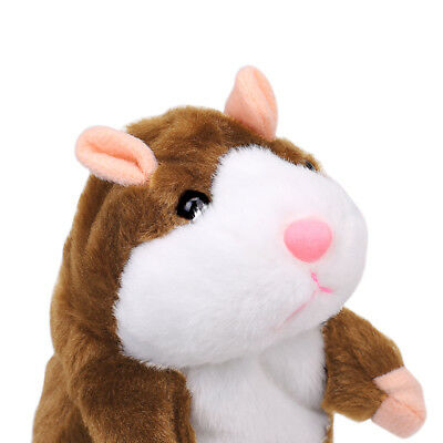 Talking Hamster Mouse Records Speech Kids Cute Nod Mimicry Repeat Pet Plush Doll