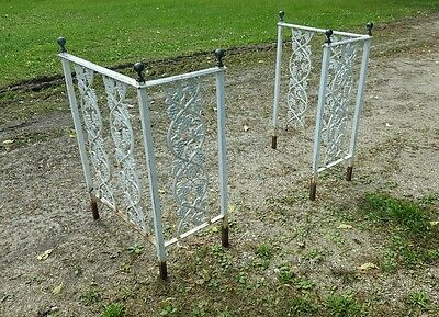 2 Vtg Architectural Solid&Cast Iron Porch Railings - pick up only Janesville WI