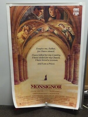 MONSIGNOR Christopher Reeve GENEVIEVE BUJOLD Home Video Drive-In Poster 1982