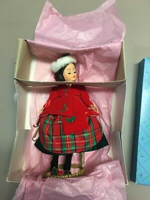 "VINTAGE MADAME ALEXANDER Doll VICTORIAN SKATER # 1155 in Box 10"" Green Eyes"