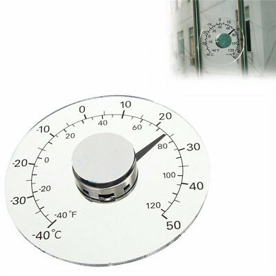 Clear Round Outdoor Indoor Window Temperature Thermometer Weather Station Tool